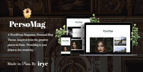 PersoMag - Personal Blog WordPress Theme