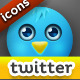 10 Cute Twitter Icons Pack - GraphicRiver Item for Sale