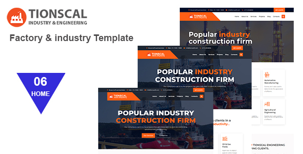 Tionscal - Factory & Industrial HTML Template