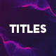 Abstract and Modern Titles - VideoHive Item for Sale