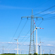 Overhead power lines and wind energy generators - PhotoDune Item for Sale