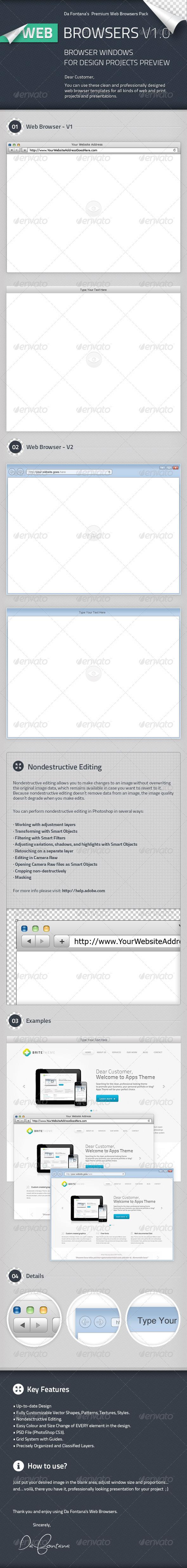 Web Browser Templates  - Decorative Graphics