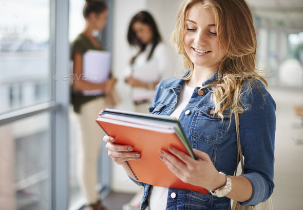 Student's life on the campus - Stock Photo - Images