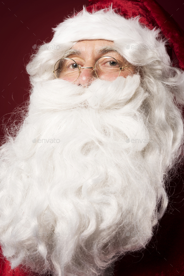 Without a beard he wouldn't be a Santa - Stock Photo - Images