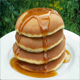 Syrup Pours Onto Pancakes Outside On Table - VideoHive Item for Sale