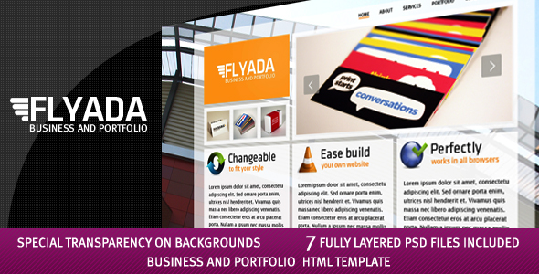 Free Download FLYADA - Business and Portfolio HTML Template Nulled Latest Version