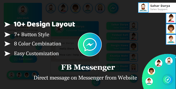 Download FB Messenger - Direct Message on Facebook Messenger From website HTML Plugin