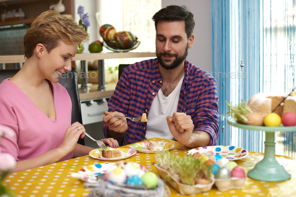 Home made cake is the best - Stock Photo - Images
