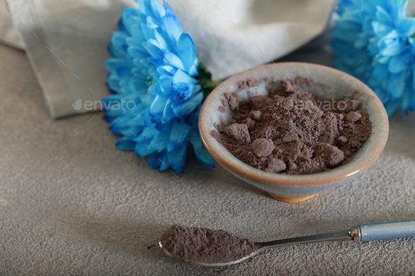 Blue Masala Tea Powder - Stock Photo - Images