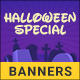 Halloween Web Banner Set - Set of 14 banners