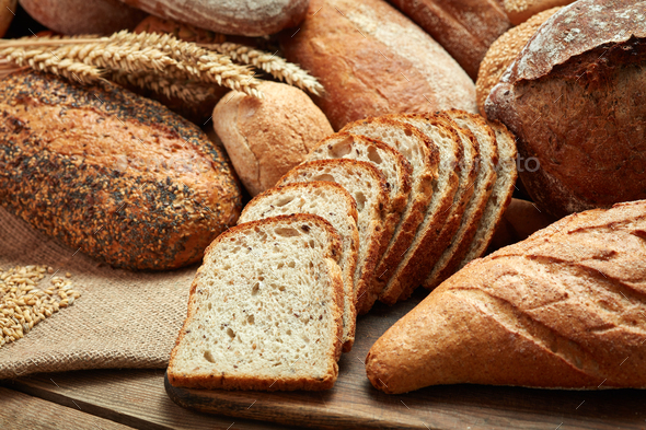 Heap of sliced bread - Stock Photo - Images