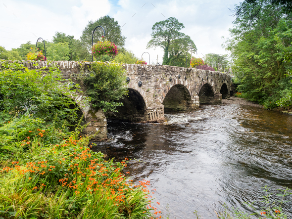 Old Bridge Near Kells Bay, Ireland - Stock Photo - Images