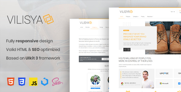 Free Download Vilisya - Minimalist Business HTML Template Nulled Latest Version