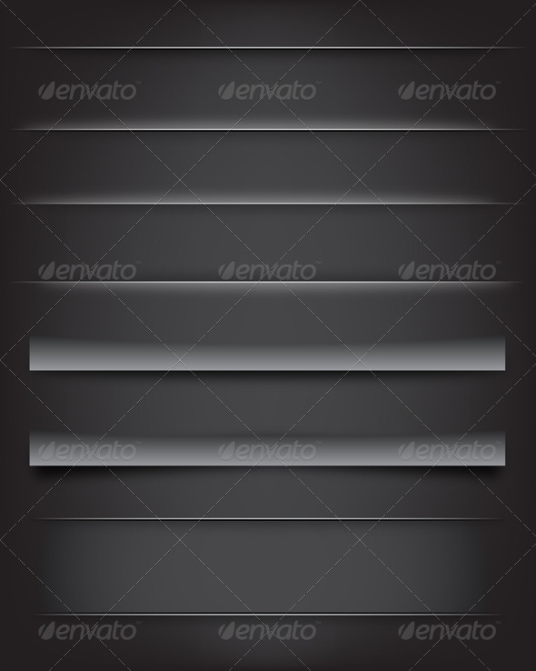 Shadows and Dividers - Web Elements Vectors