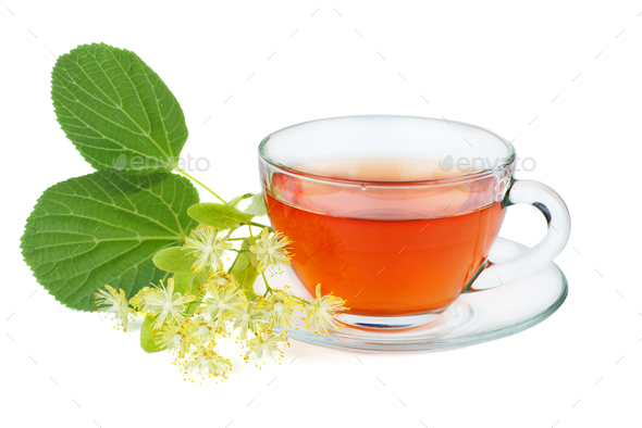 Herbal tea and linden blossom - Stock Photo - Images