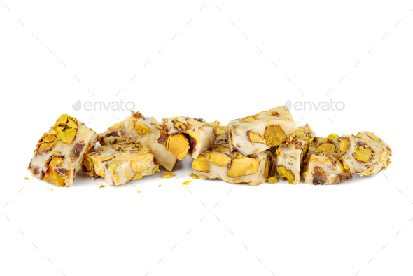 Small pieces of oriental sweets - Stock Photo - Images