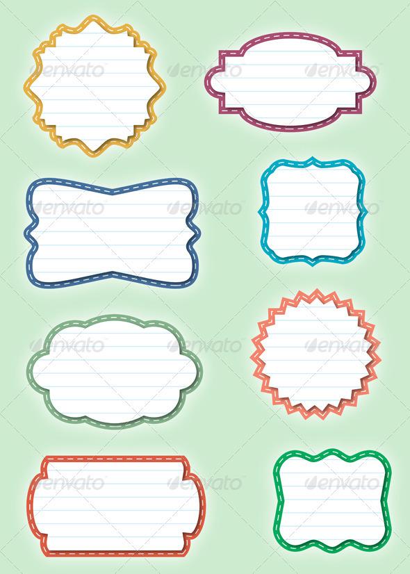Paper Frames - Decorative Symbols Decorative