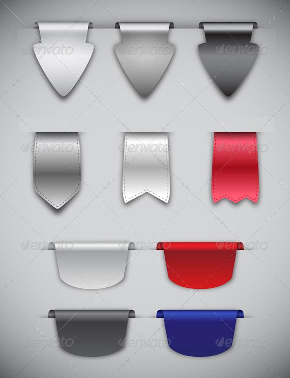 Ribbons and Bookmarks - Web Elements Vectors