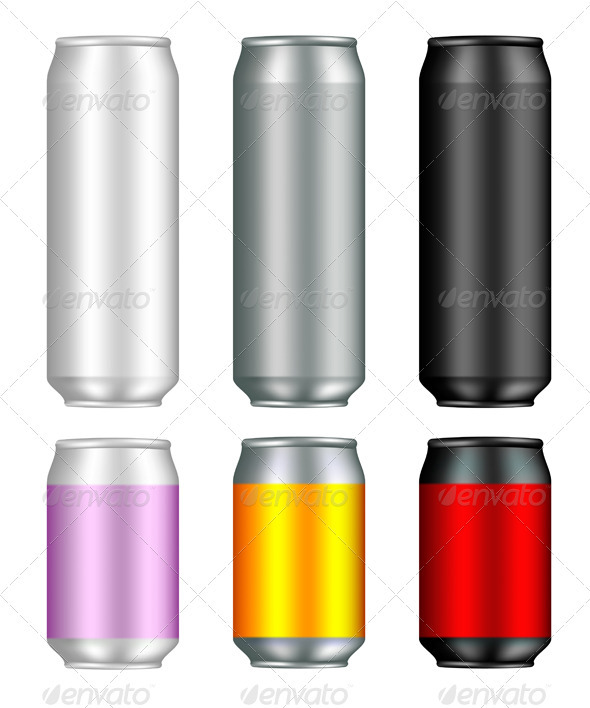 Aluminum Can Templates - Miscellaneous Vectors