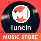 Tunein Online Music Store HTML Template