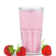 Glass of pink strawberry smoothie - PhotoDune Item for Sale