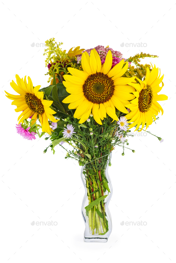 Bouquet of sunflowers - Stock Photo - Images