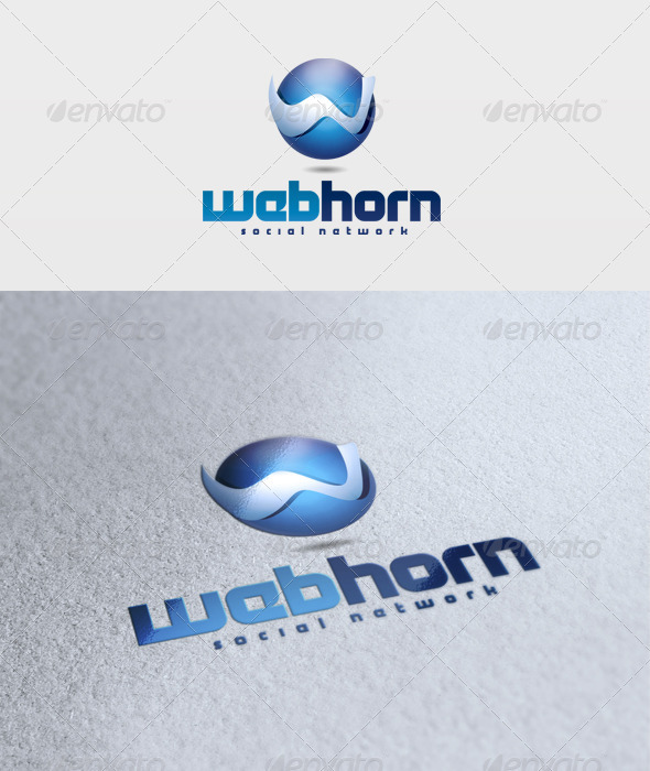 Web Horn Logo - 3d Abstract