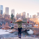 Adorable girl in Central Park at New York City - PhotoDune Item for Sale