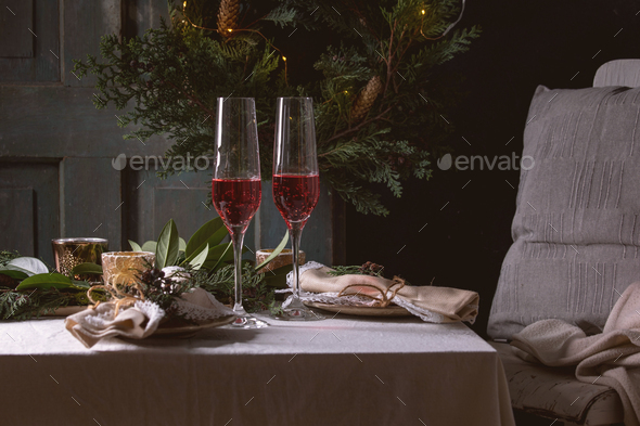 Christmas or New year table - Stock Photo - Images