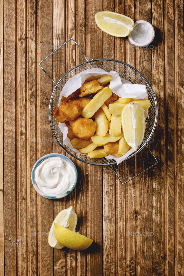 Classic fish and chips - Stock Photo - Images
