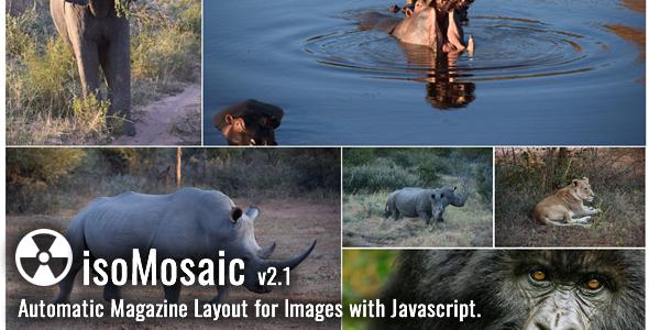 Share codecanyon isoMosaic Photo Wall Layout Generator