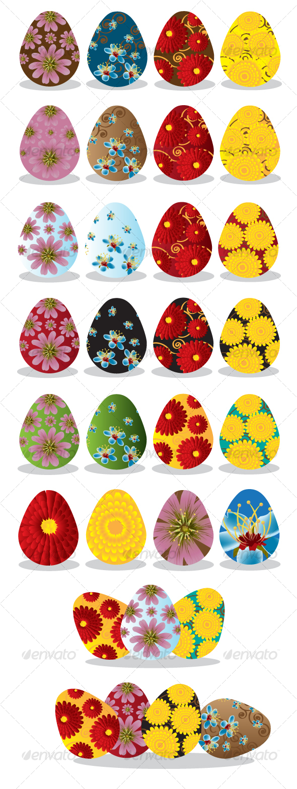 Floral Easter Eggs - Seasons/Holidays Conceptual