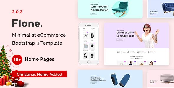 Flone - Minimal eCommerce HTML Template