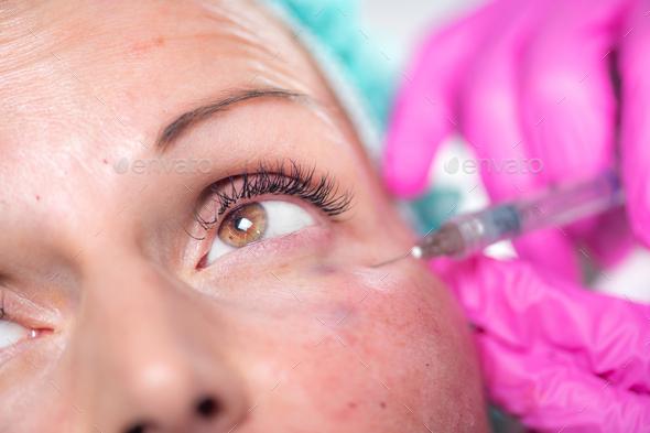 Hyaluronic Acid Face Treatment - Stock Photo - Images