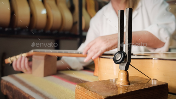 Classic Guitar For Flamenco In Lute Maker Shop - Stock Photo - Images