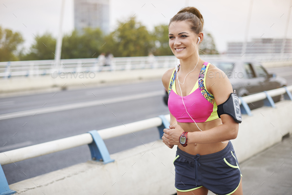 Jogging is not only my passion but also a lifestyle - Stock Photo - Images