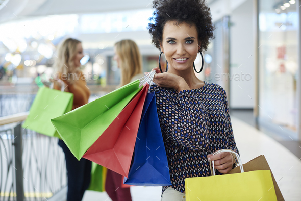 Shopping is what women love best - Stock Photo - Images