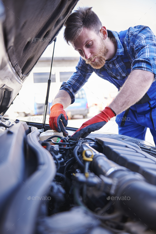 He is the best car mechanic in town - Stock Photo - Images