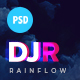 Free Download DJ Rainflow | Music Band & Musician PSD Template Nulled