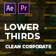 Clean Corporate Lower Thirds | MOGRT - VideoHive Item for Sale