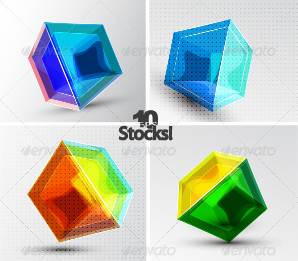 Vector 3d Cube Backgrounds - Backgrounds Business