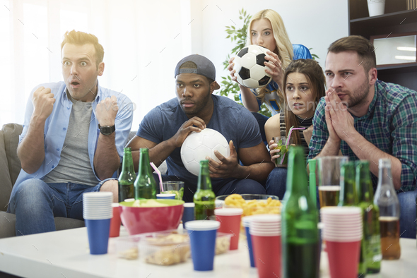 Waiting for the final score - Stock Photo - Images