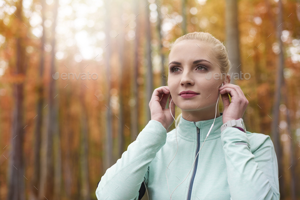 Music is a great motivation - Stock Photo - Images