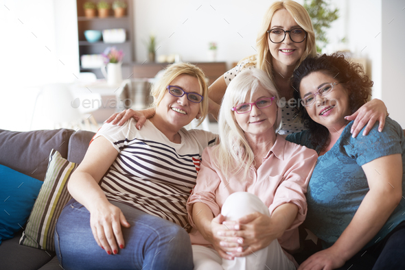 Vision problems of mature women - Stock Photo - Images