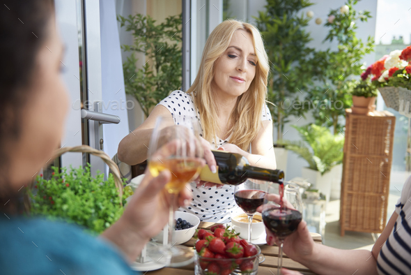 One more glass of wine - Stock Photo - Images