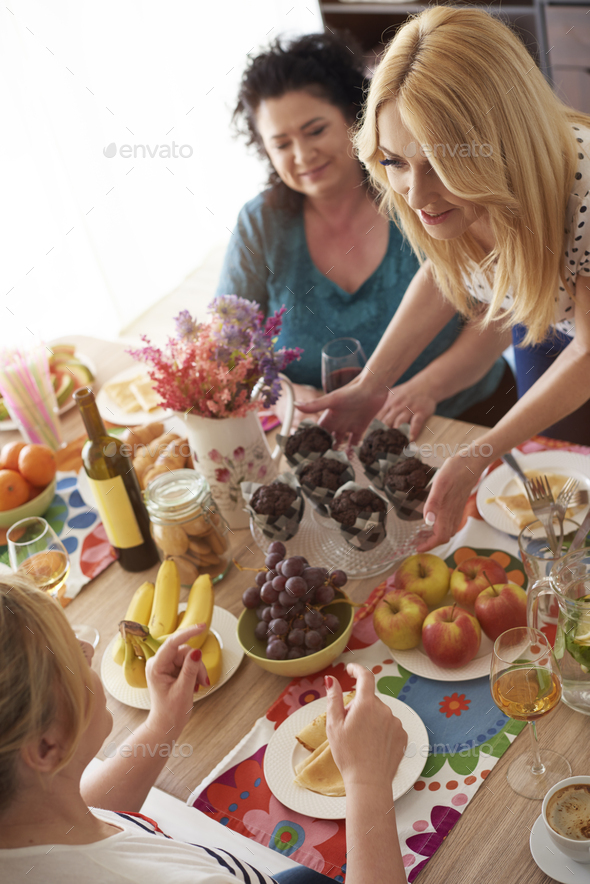 Table full of delicious food - Stock Photo - Images