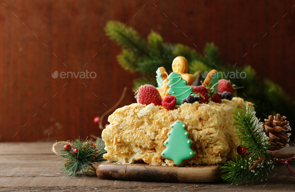 Gingerbread Christmas Cake - Stock Photo - Images