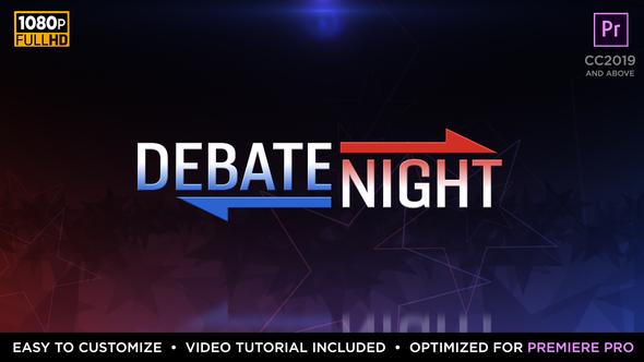 Debate Night Elements | MOGRT for Premiere Pro