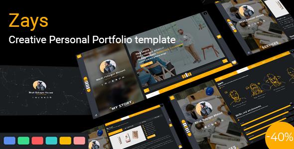 Zays - Creative Personal Portfolio Template by themeies