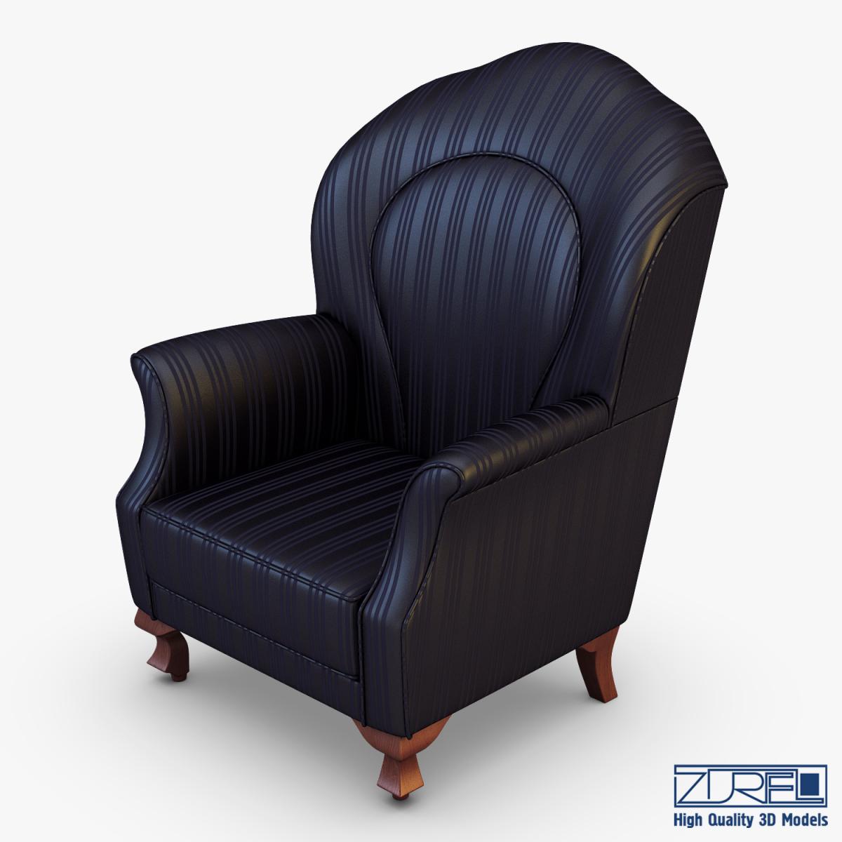Imperatrice armchair black